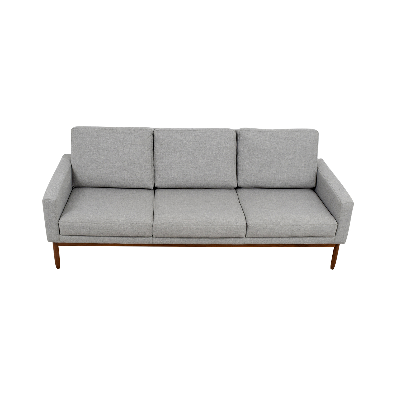 Design Within Reach Design Within Reach Raleigh Light Grey Ducale Wool Sofa for sale