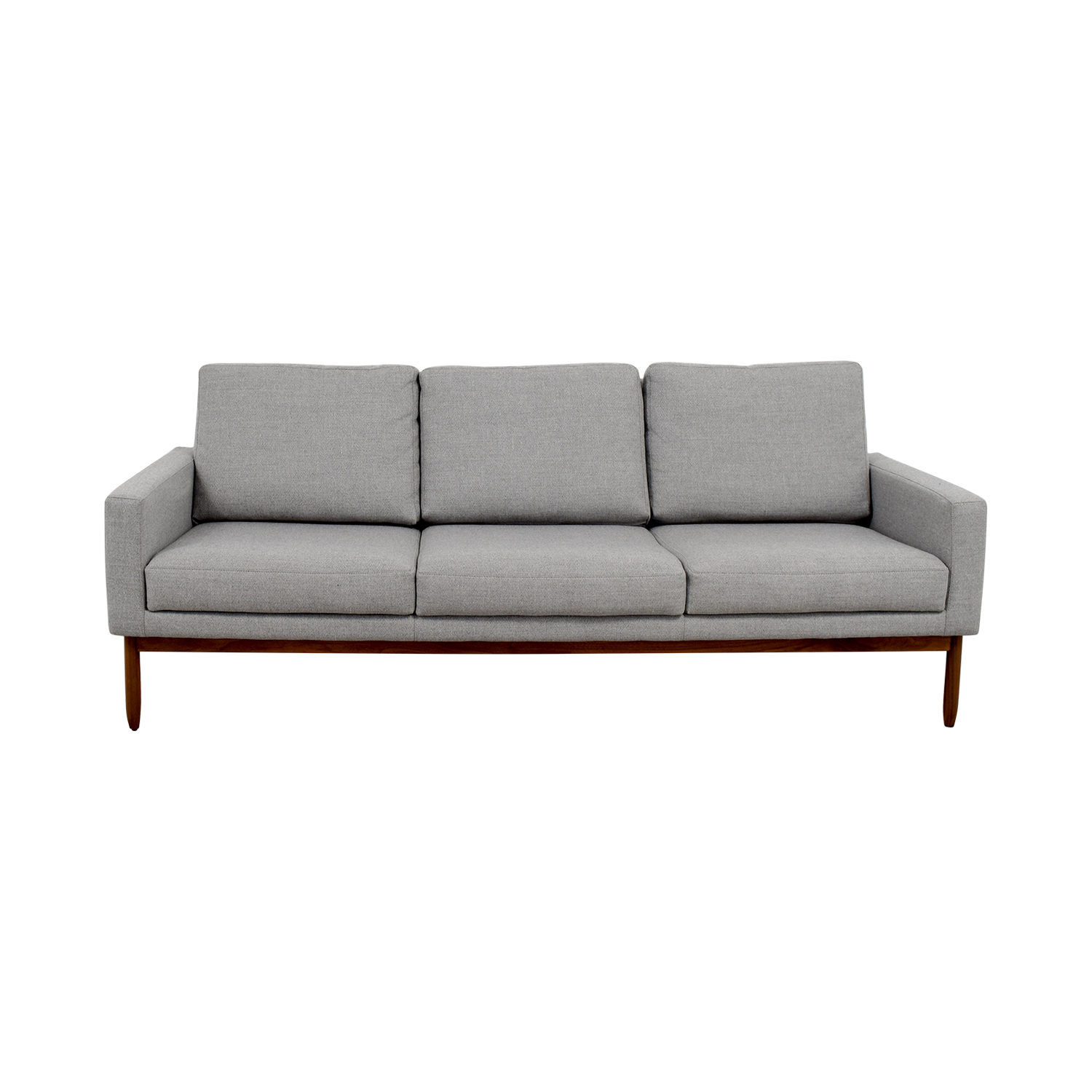 59% OFF   Design Within Reach Design Within Reach Raleigh Light Grey Ducale  Wool Sofa / Sofas