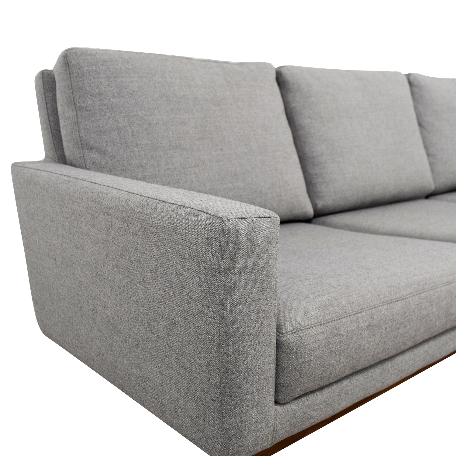 Design Within Reach Design Within Reach Raleigh Light Grey Ducale Wool Sofa nyc