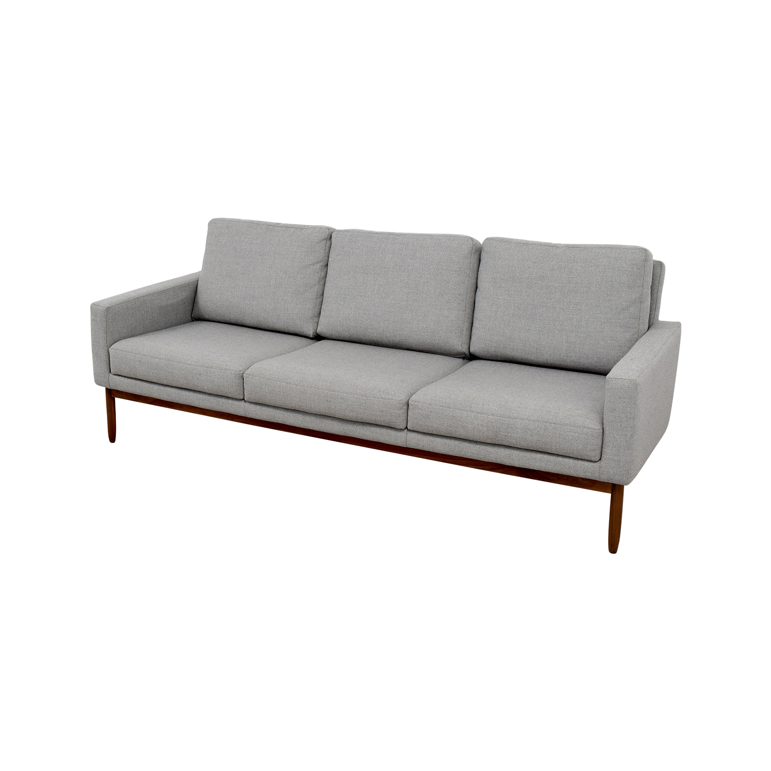 Design Within Reach Raleigh Light Grey Ducale Wool Sofa / Sofas