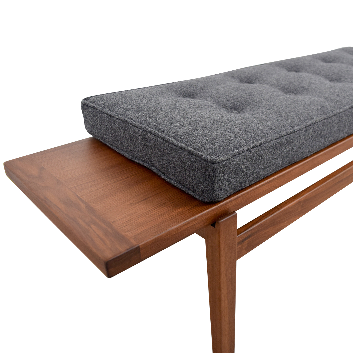 shop Design Within Reach Jens Bench in Heather Lama Tweed Design Within Reach Chairs