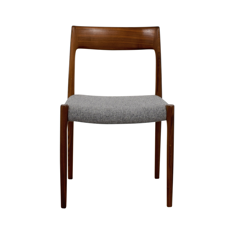 shop Design Within Reach Møller Hallingdal Grey Side Chair Design Within Reach Accent Chairs