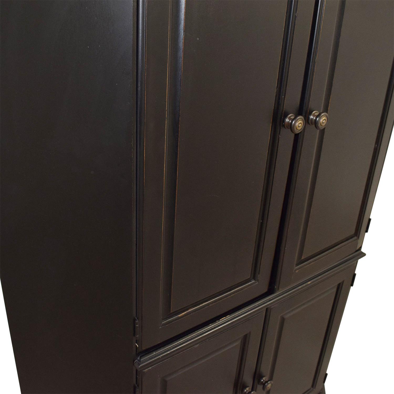 Black Wood Corner Media Cabinet for sale