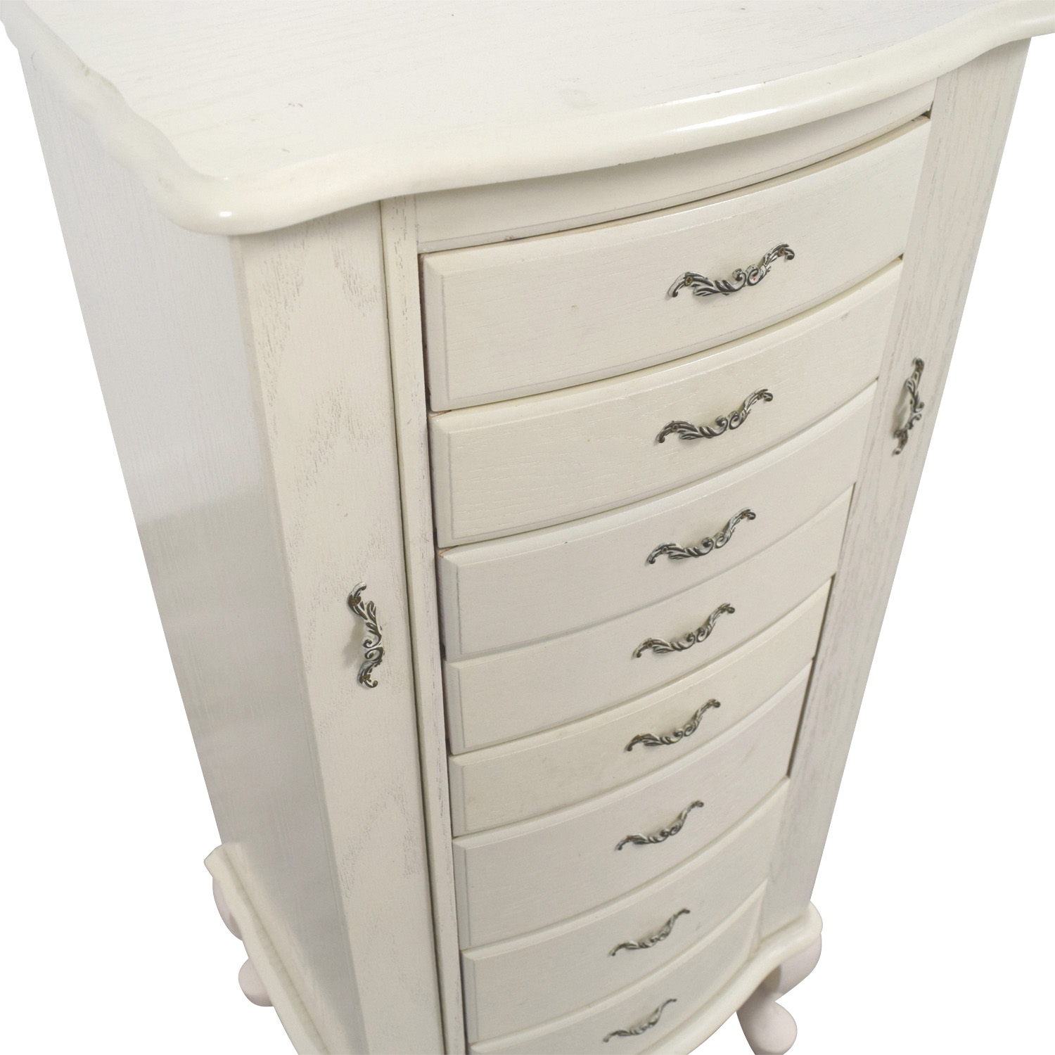 80 OFF White Vintage Jewelry Armoire Storage