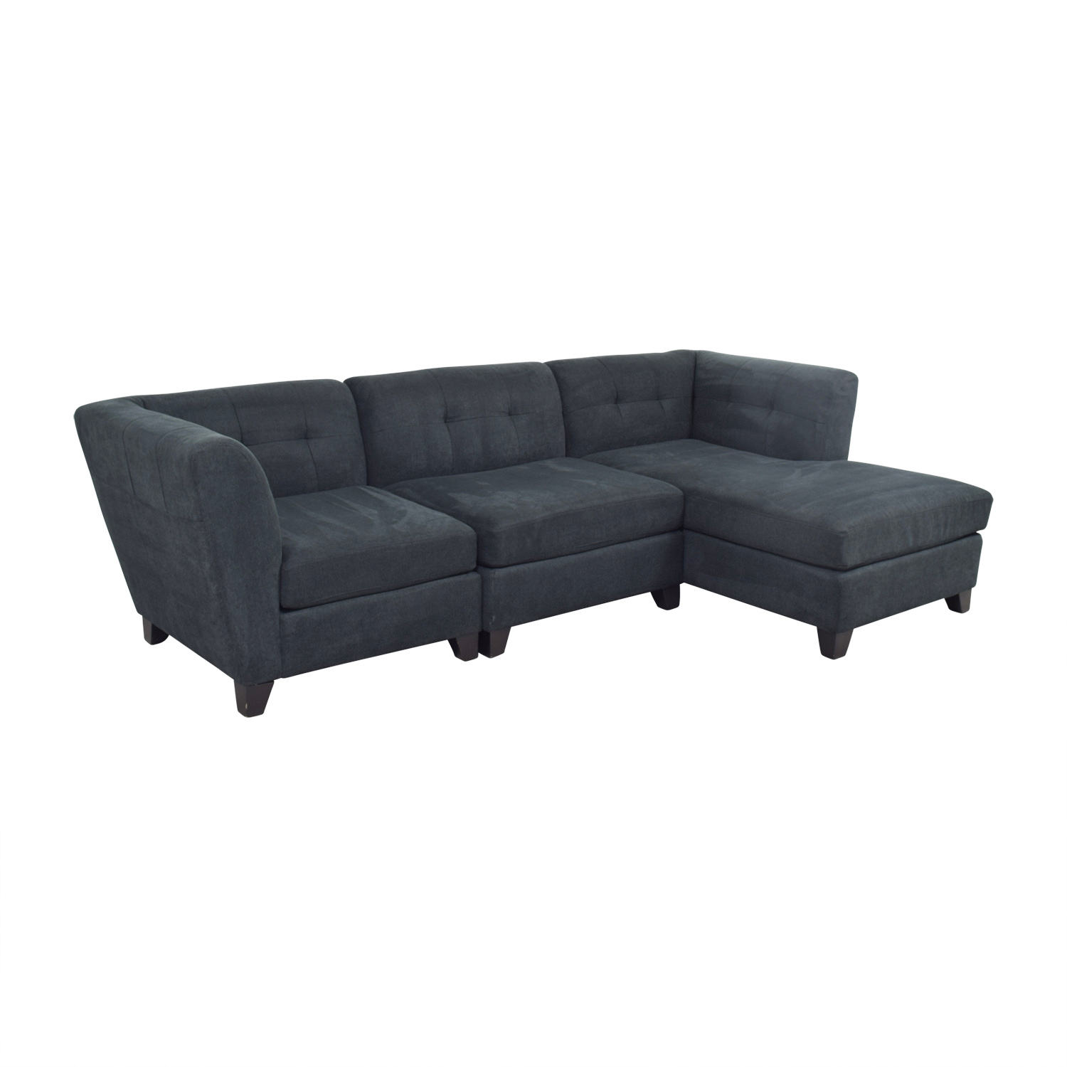69 Off Raymour Flanigan Raymour Flanigan Tate Microfiber Sectional Sofas