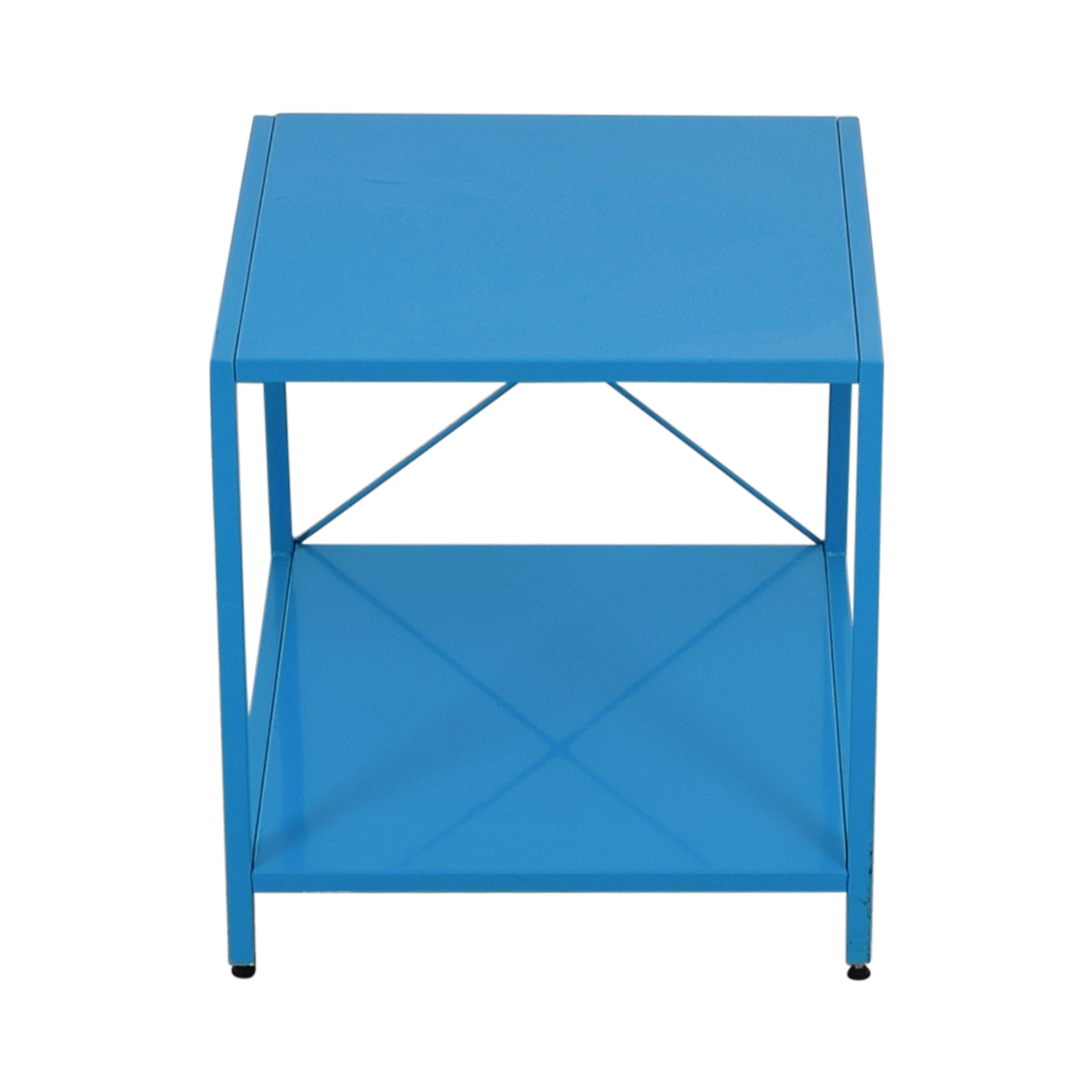 shop Poppin Blue Side Table Poppin End Tables