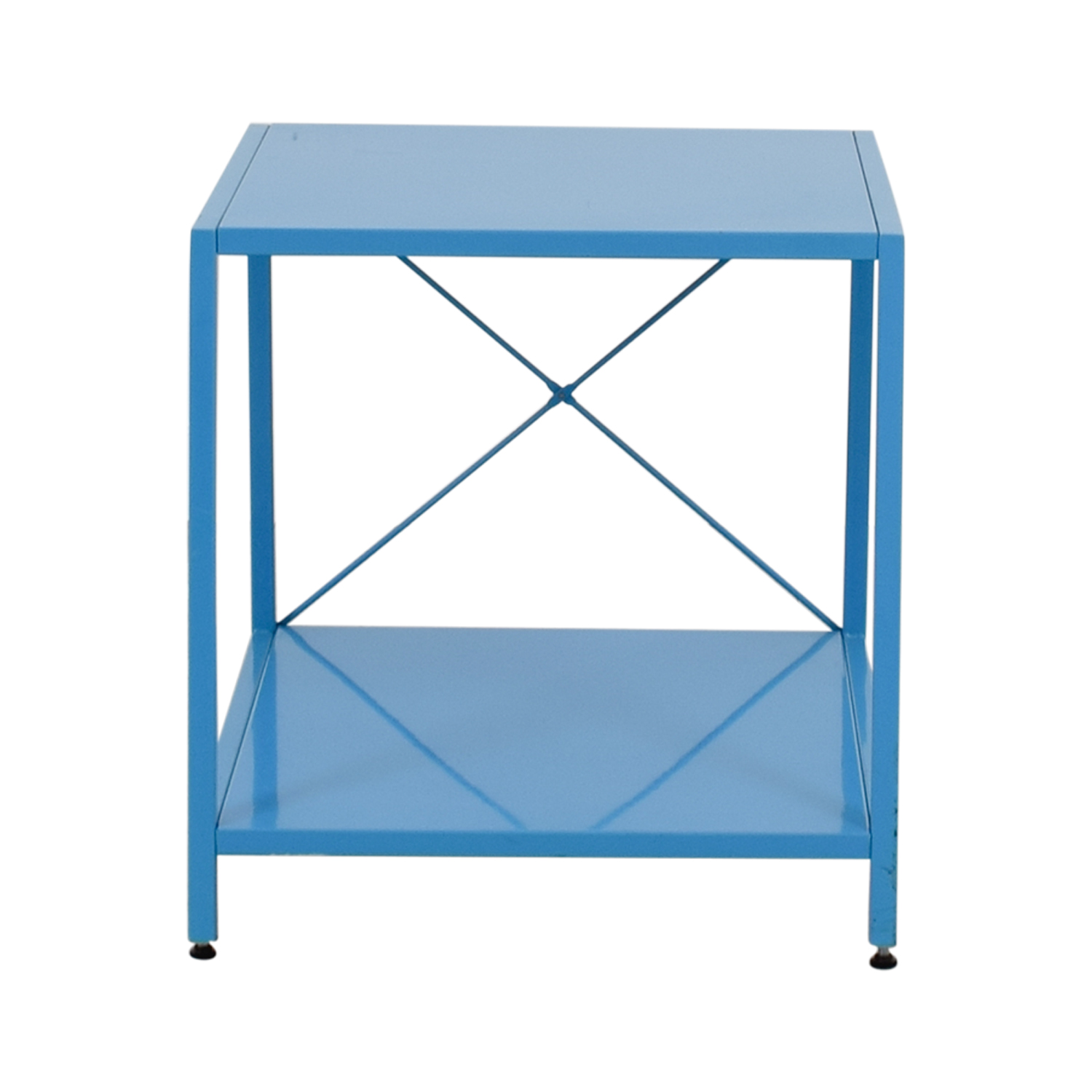 Poppin Blue Side Table Poppin