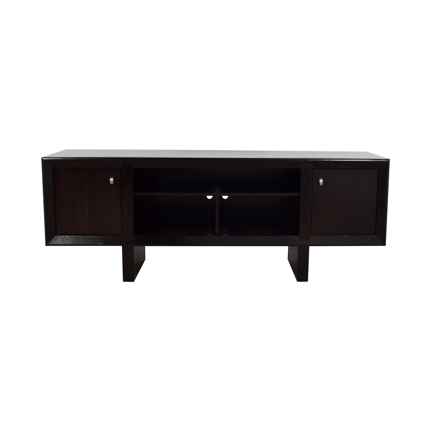 Raymour & Flanigan Raymour & Flanigan Brown Entertainment Console discount