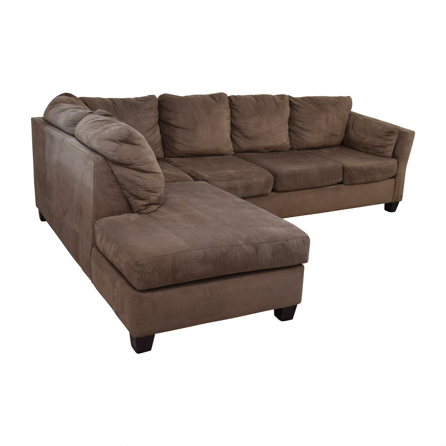 52 Off Bob 39 S Furniture Bob 39 S Furniture Brown Microfiber Sectional Sofas