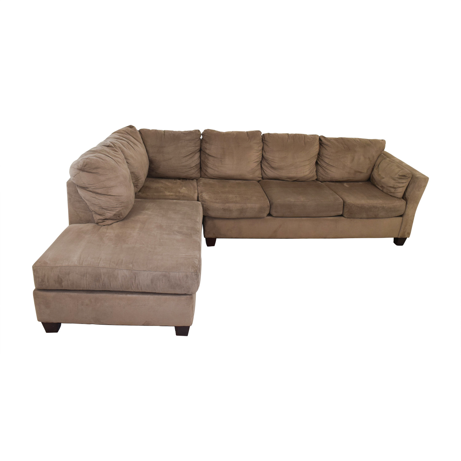 Bobs Furniture Bobs Furniture Brown Microfiber Sectional nyc