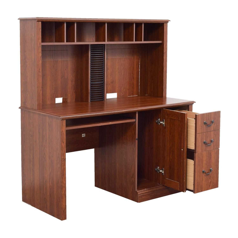 70 off saunders saunders wood computer desk tables - Wood desks for home office ...