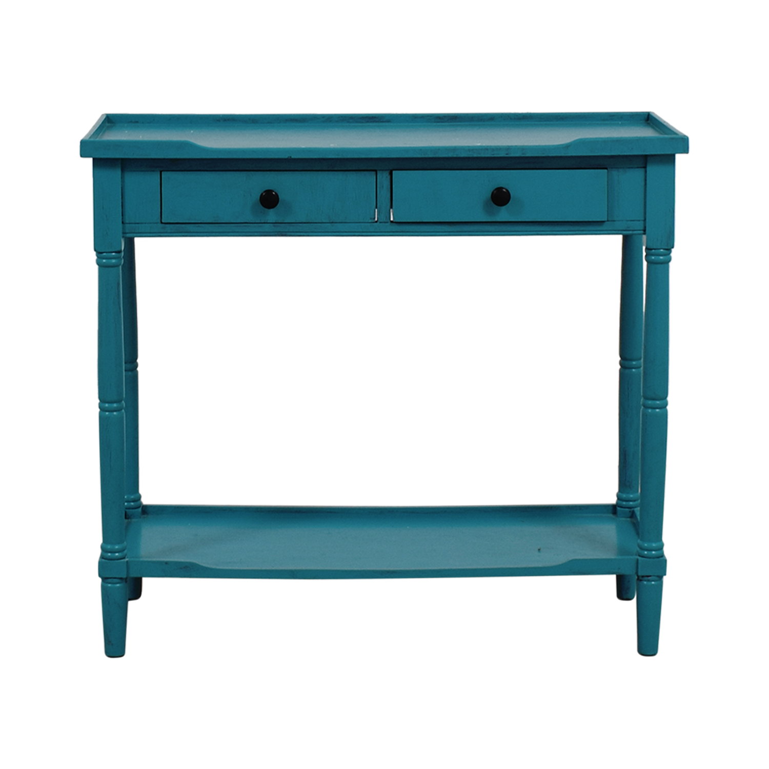 HomeGoods HomeGoods Teal Entryway Table for sale