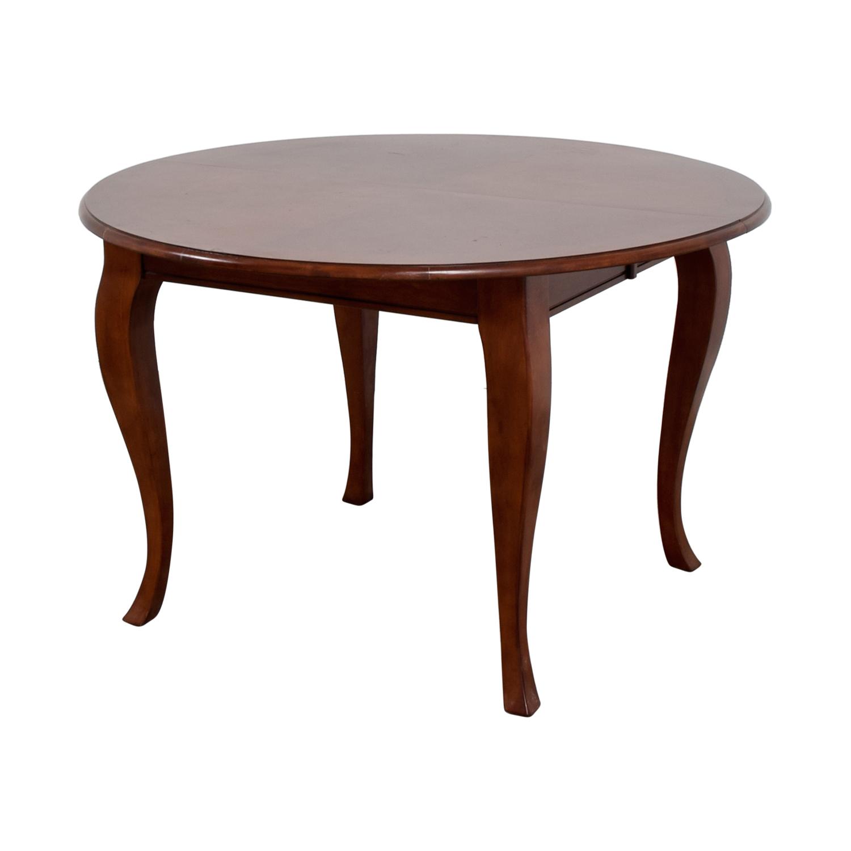 Broyhill Broyhill Wooden Dining Room Table Dark Cherry Wood