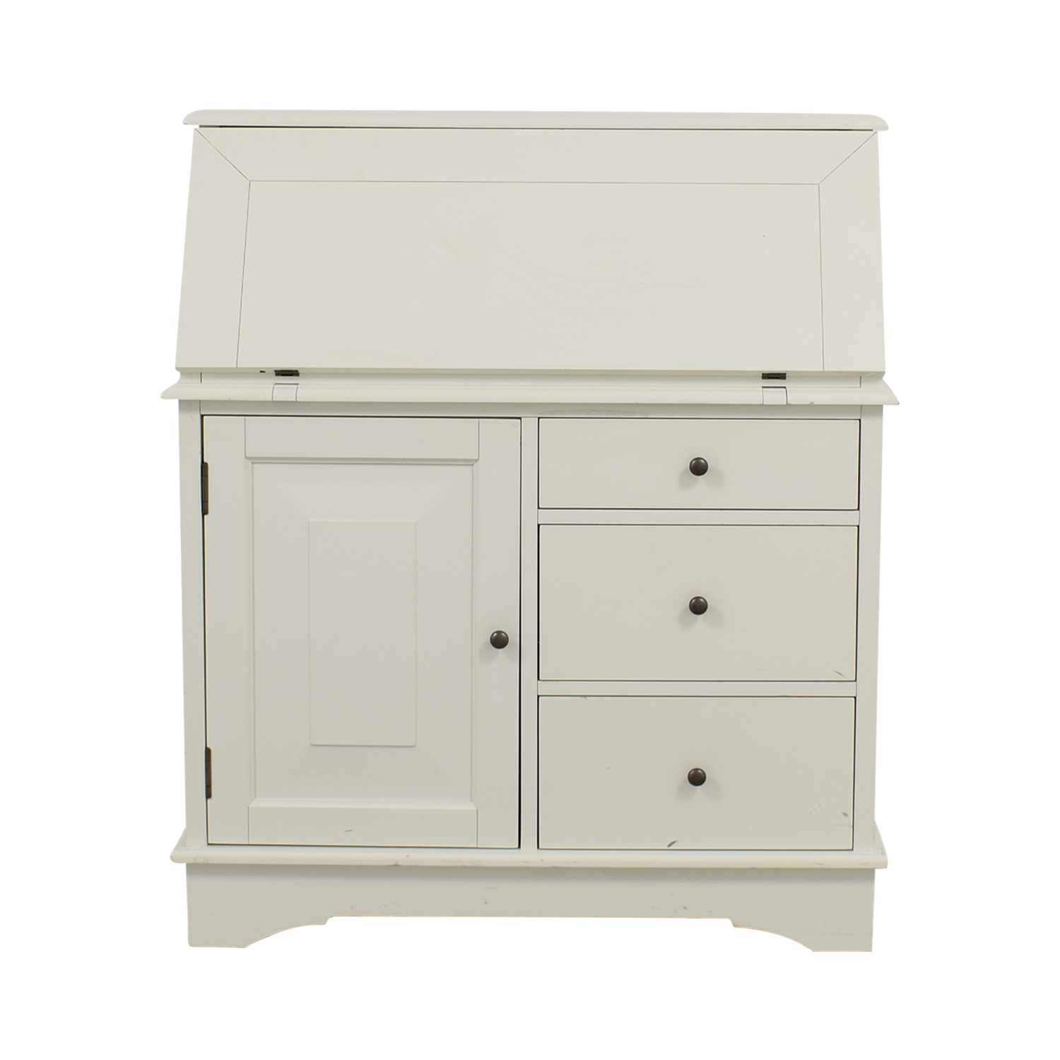 Pottery Barn Antique White Graham Secretary Desk