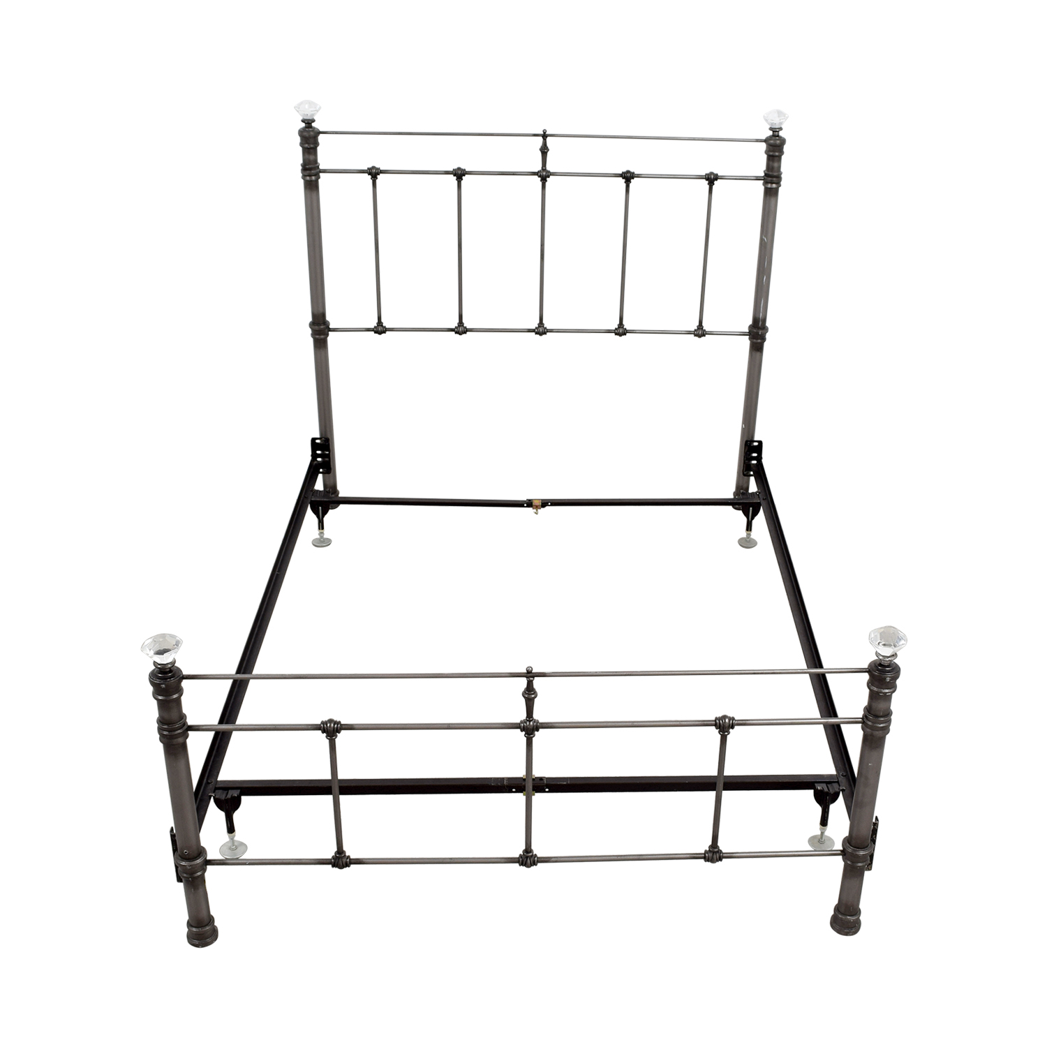 shop Pottery Barn Iron Crystal Full Bed Frame Pottery Barn Beds