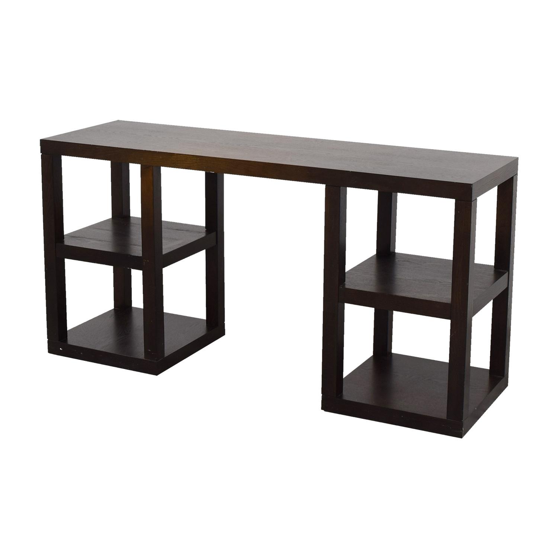 West Elm West Elm Desk with Shelves Dark Cherry wood