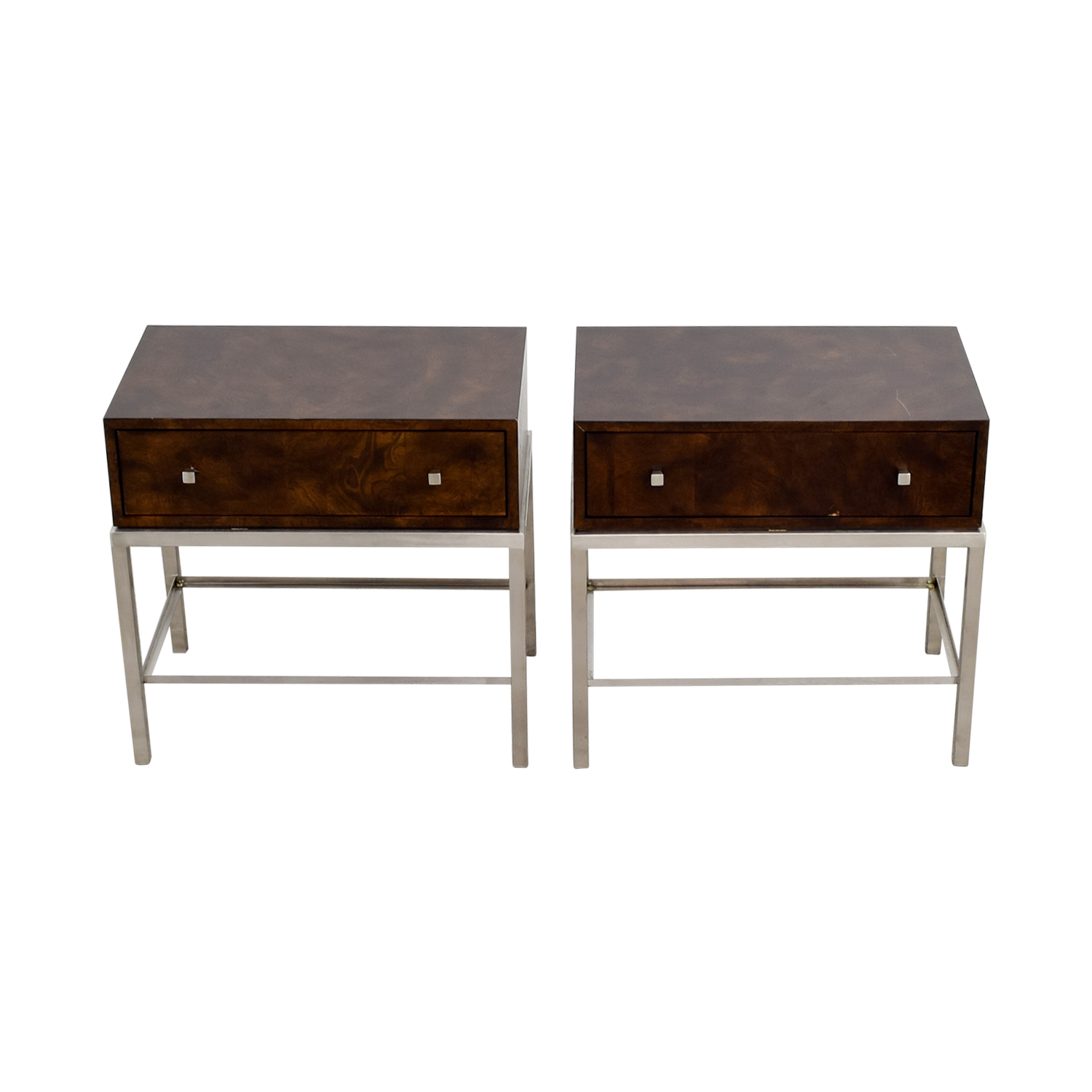 Ethan Allen Wood & Metal Nightstand sale