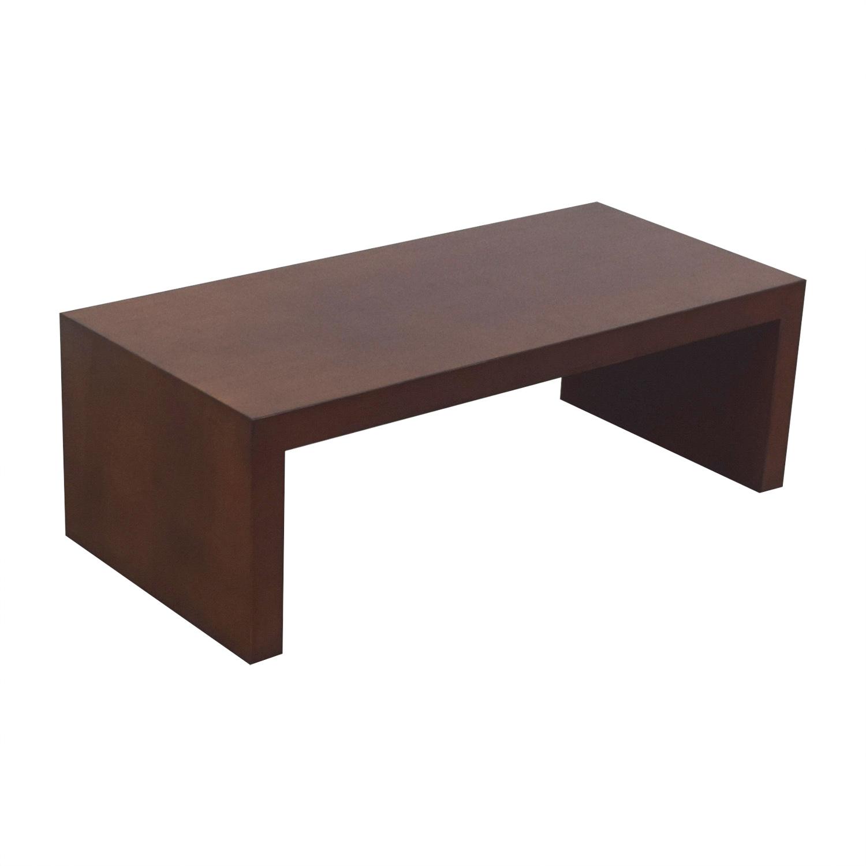 Ethan Allen Rebar Coffee Table: Ethan Allen Ethan Allen Wood Coffee Table / Tables