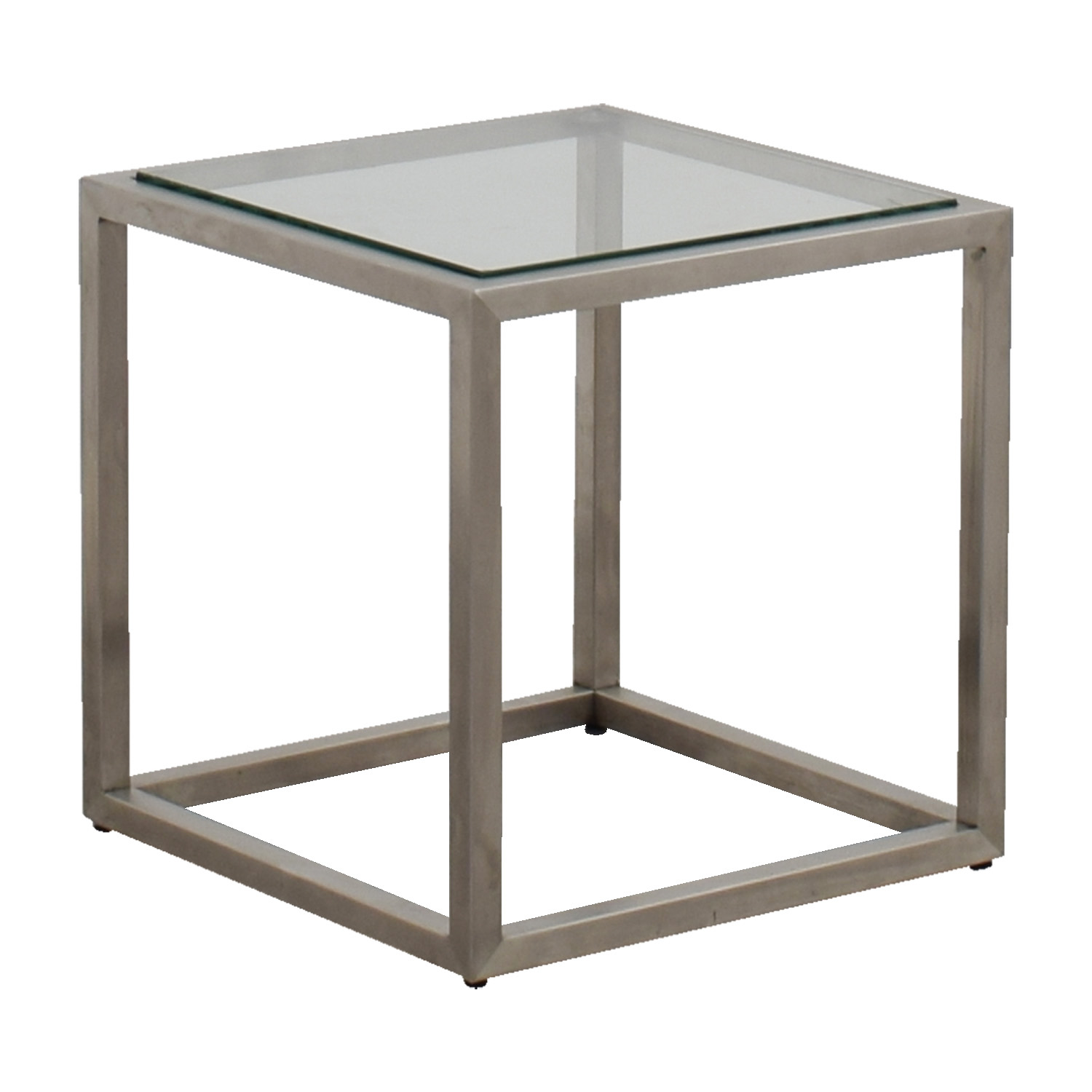 Used Ethan Allen Coffee Tables: Ethan Allen Ethan Allen Metal And Glass Cube