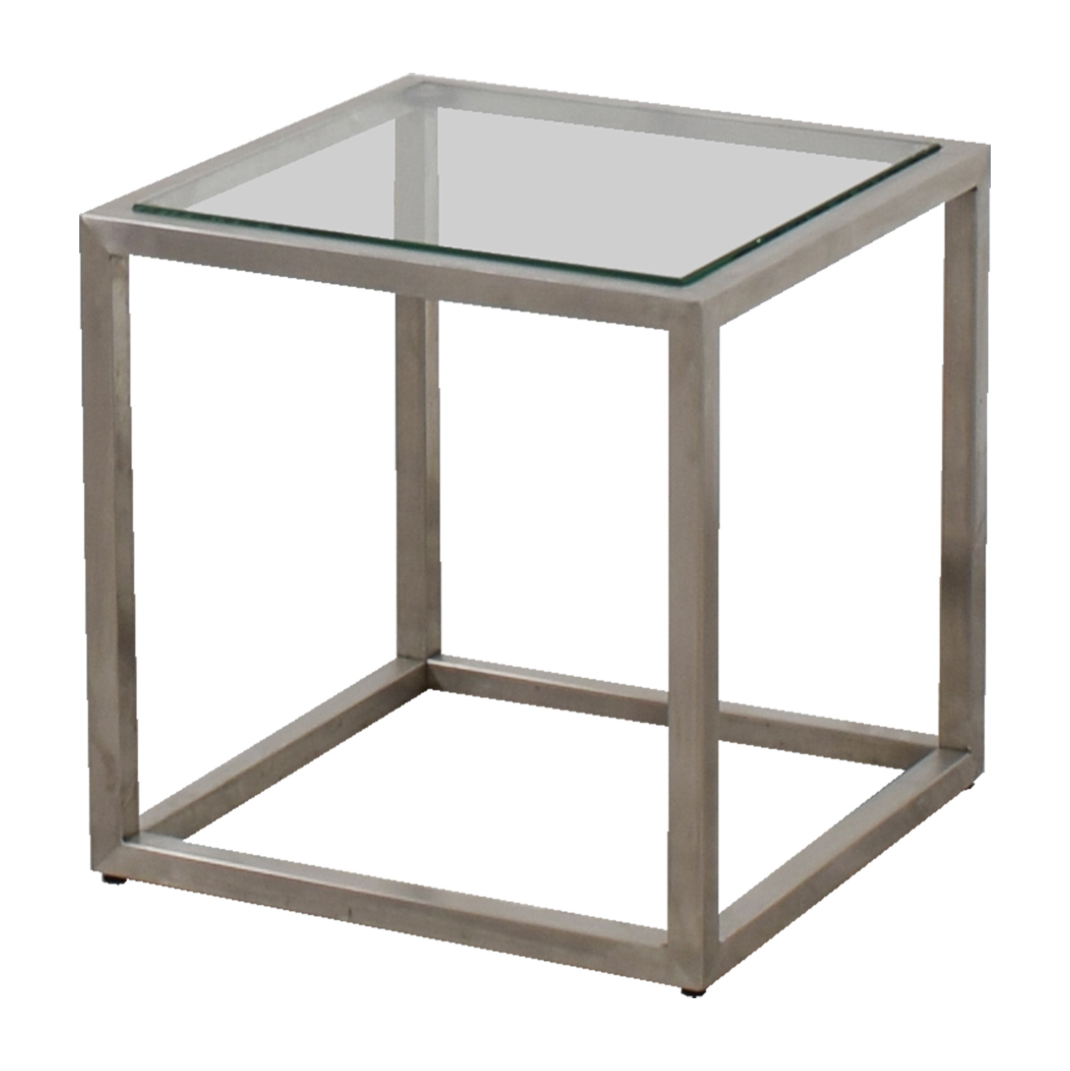 87% off - ethan allen ethan allen metal and glass cube coffee table Cube Coffee Table
