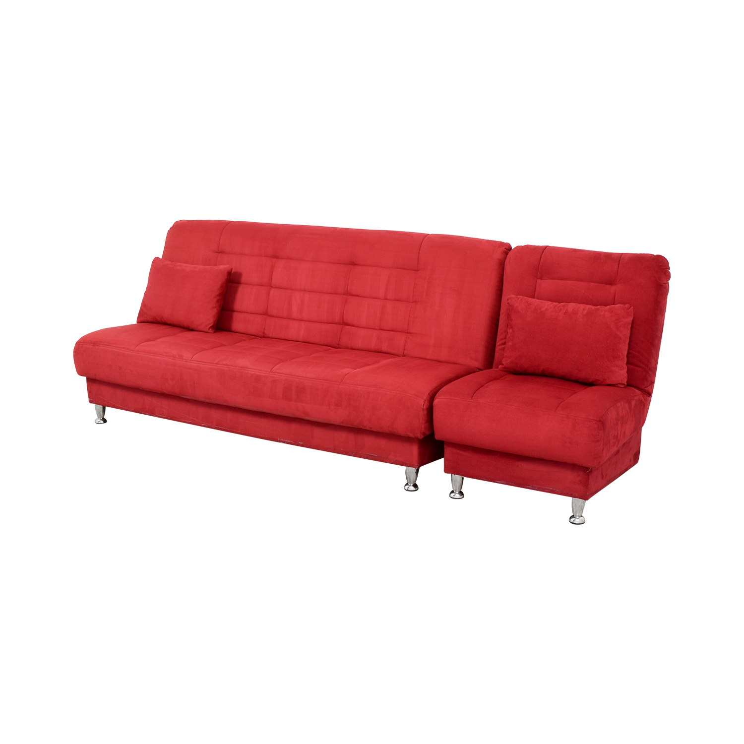 Sofa bed red vegas sofa bed with storage thesofa for Sofa bed red