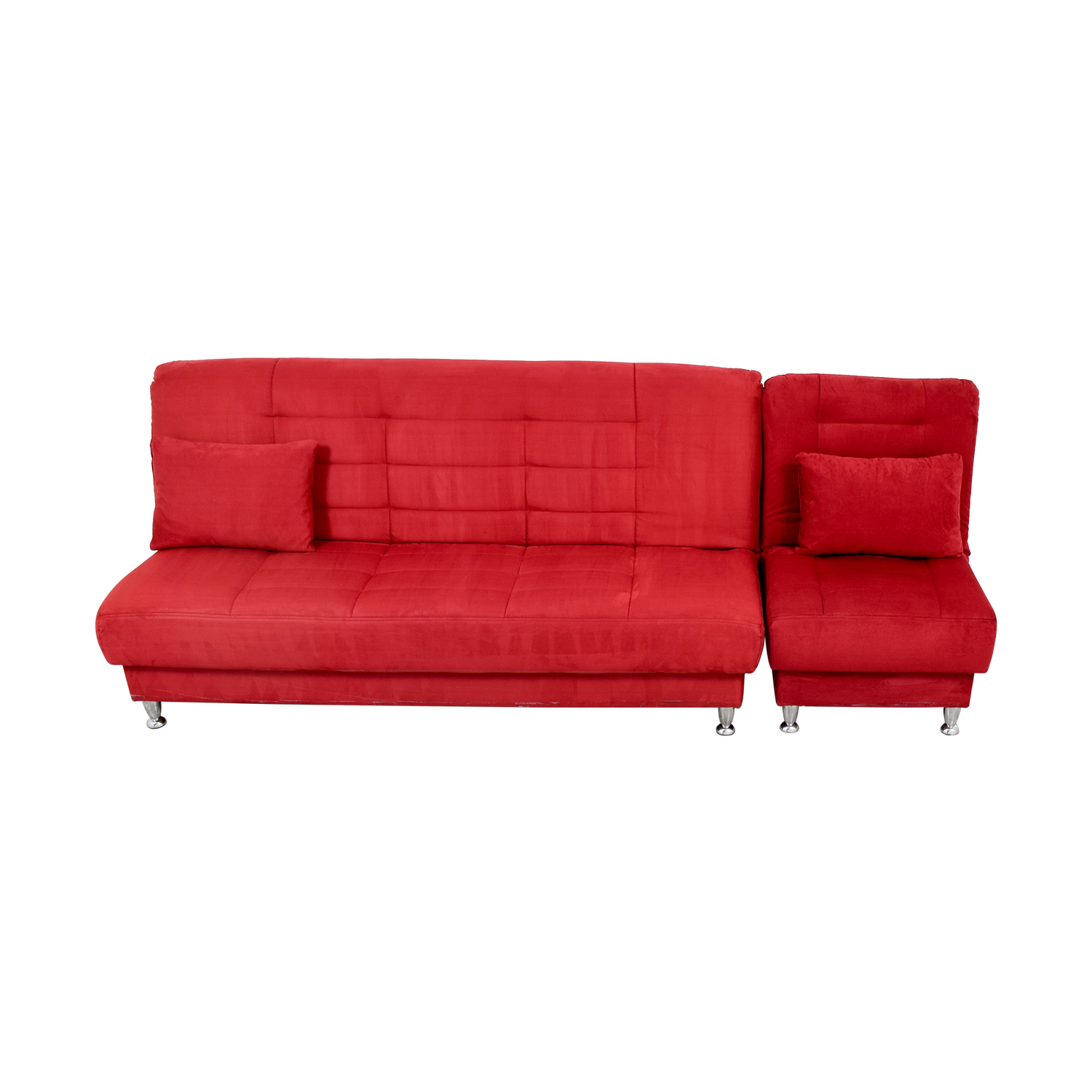 Red sofa chair gray scarlett tufted sofa set rouge red thesofa Red sofas and loveseats
