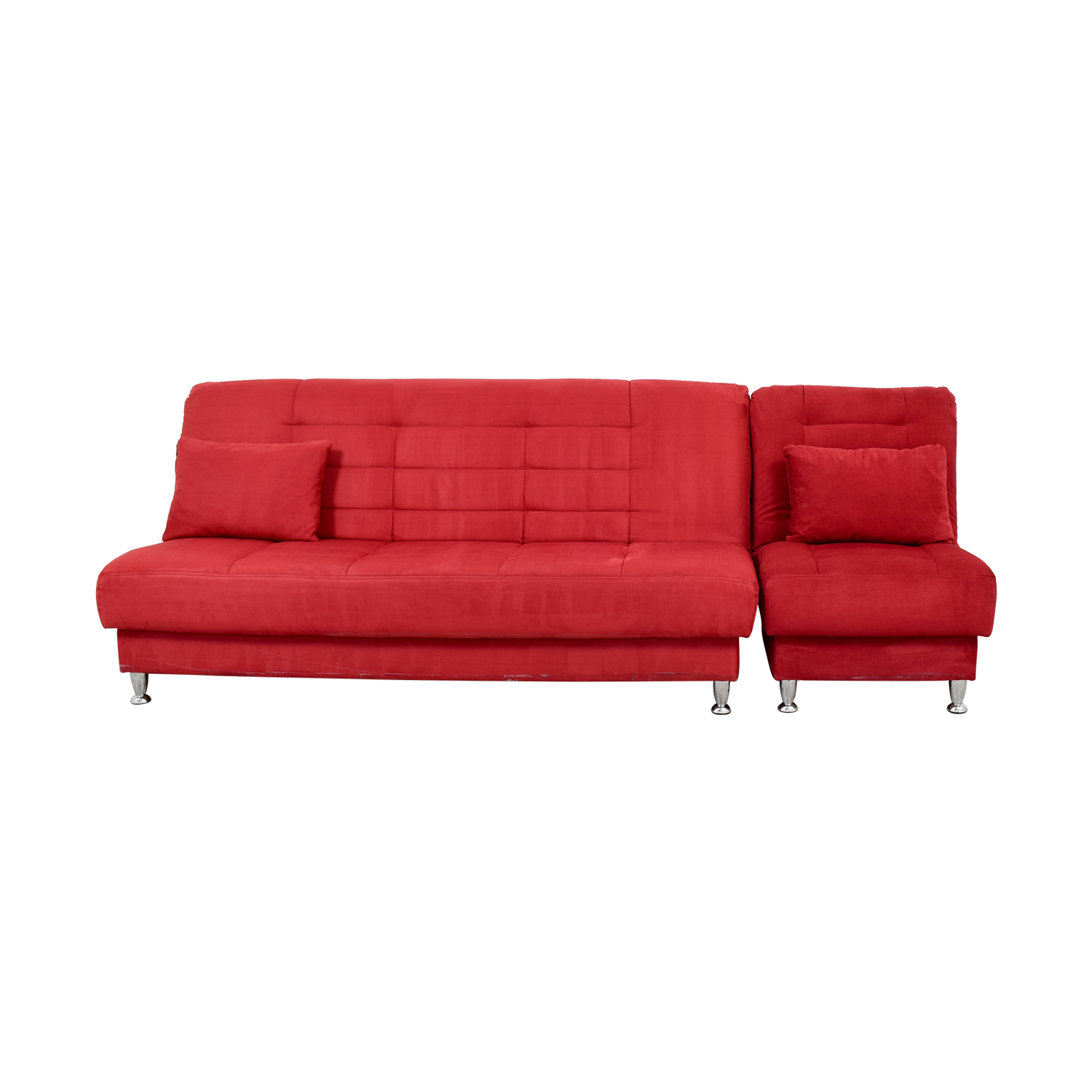 Laude Red Sofa Bed With Storage