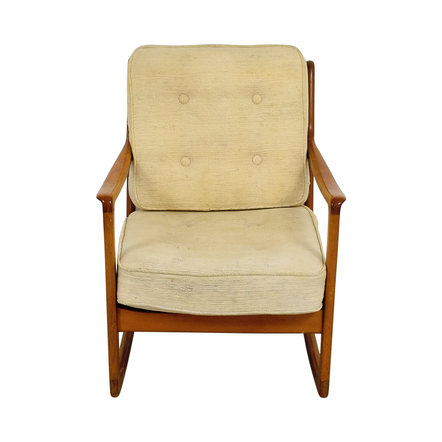 Incroyable ... John Stuart Inc John Stuart Inc Mid Century Danish Beige Teak Rocking  Chair Accent Chairs ...
