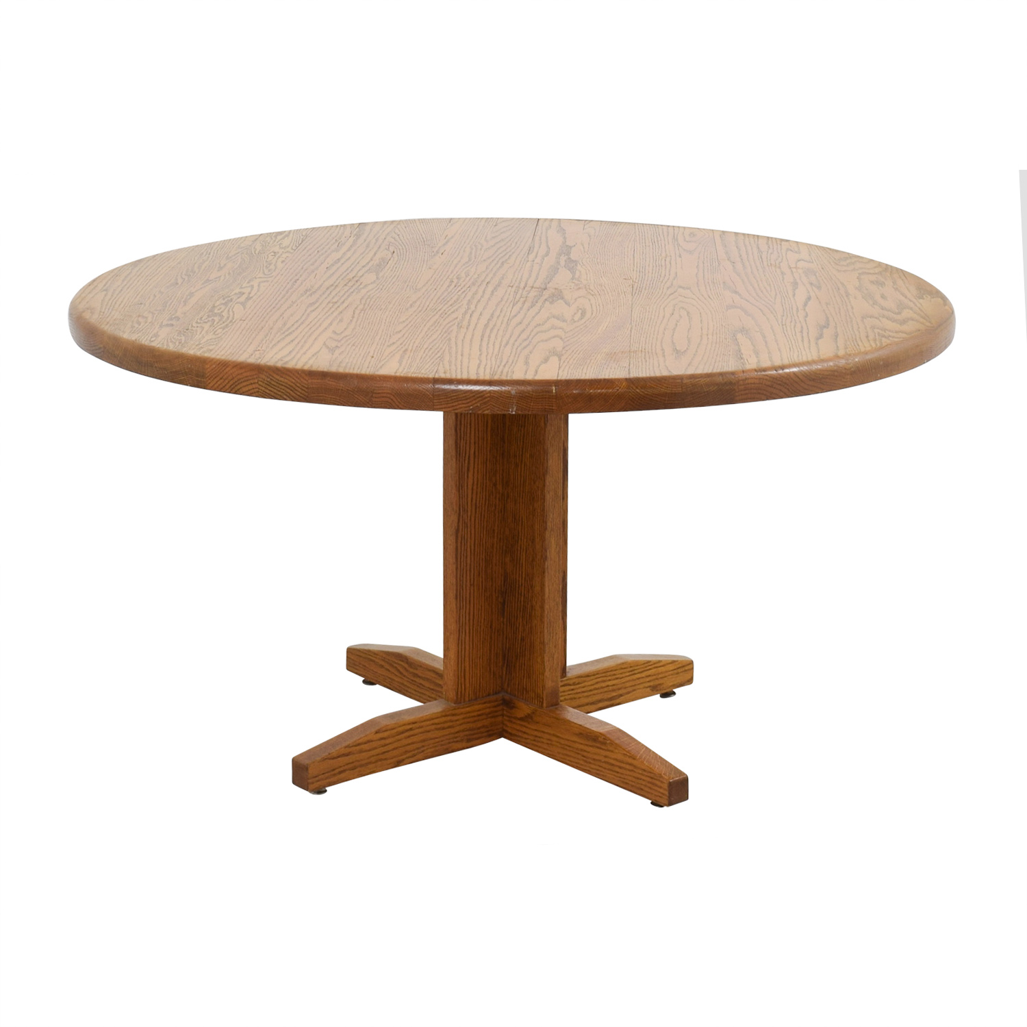 62 off oak round dining table tables - Round oak dining tables ...