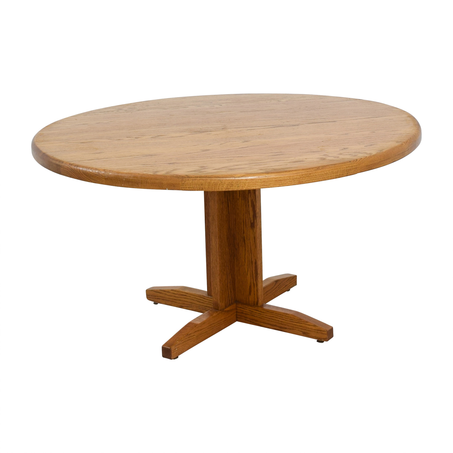 90 Off Oak Round Dining Table Tables