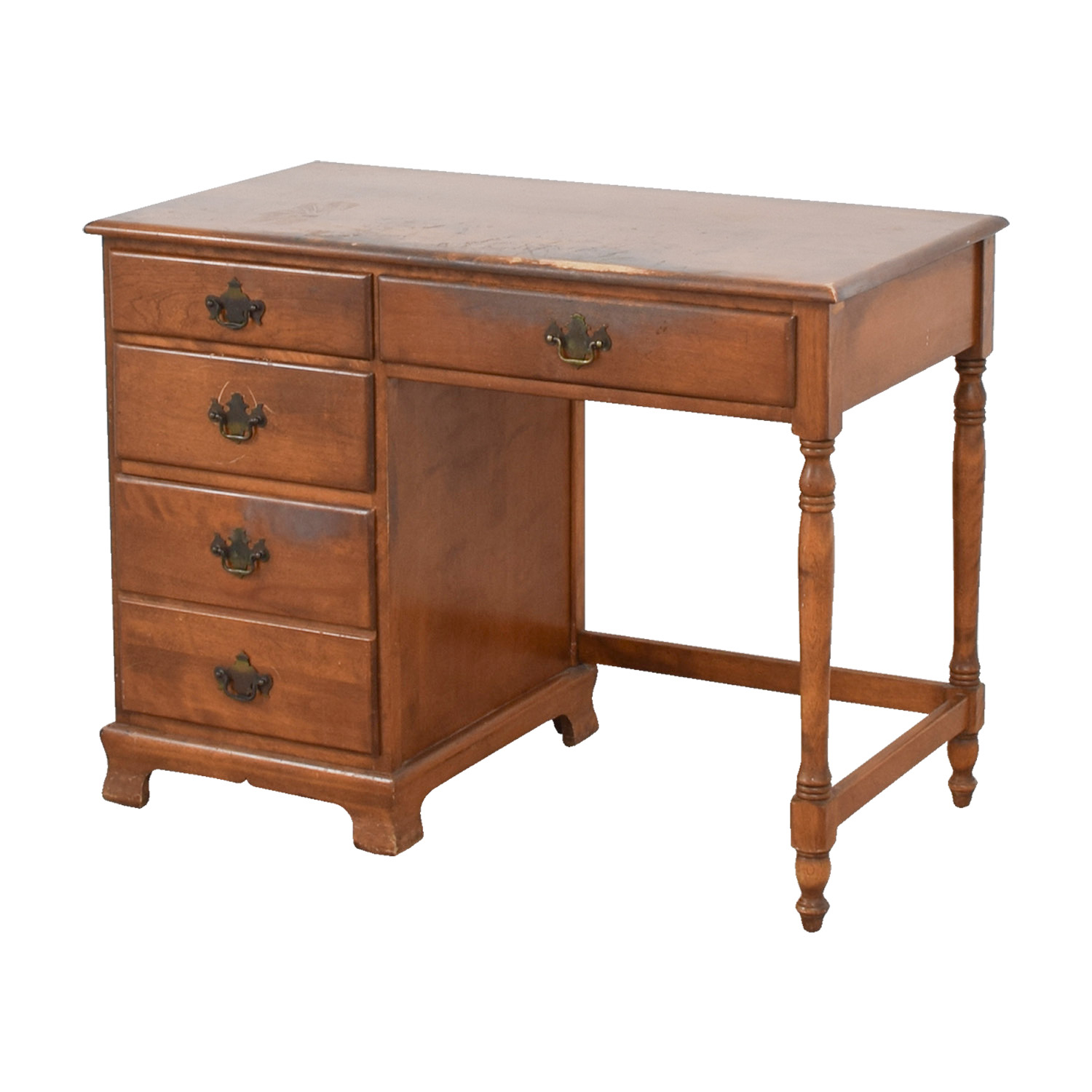 OFF Ethan Allen Ethan Allen Vintage Baumritter Maple Wood Desk - Desks for home office ethan allen