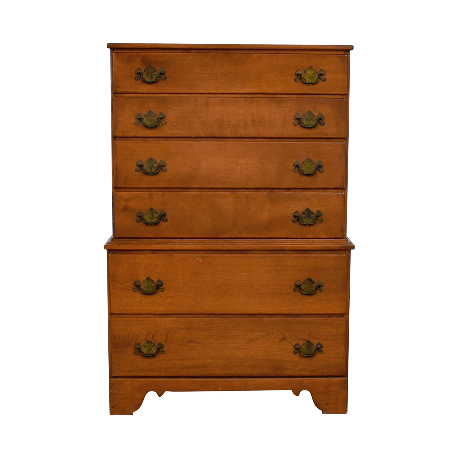 Ethan Allen Baumritter Vermont Nutmeg Maple Tall Dresser Light Brown