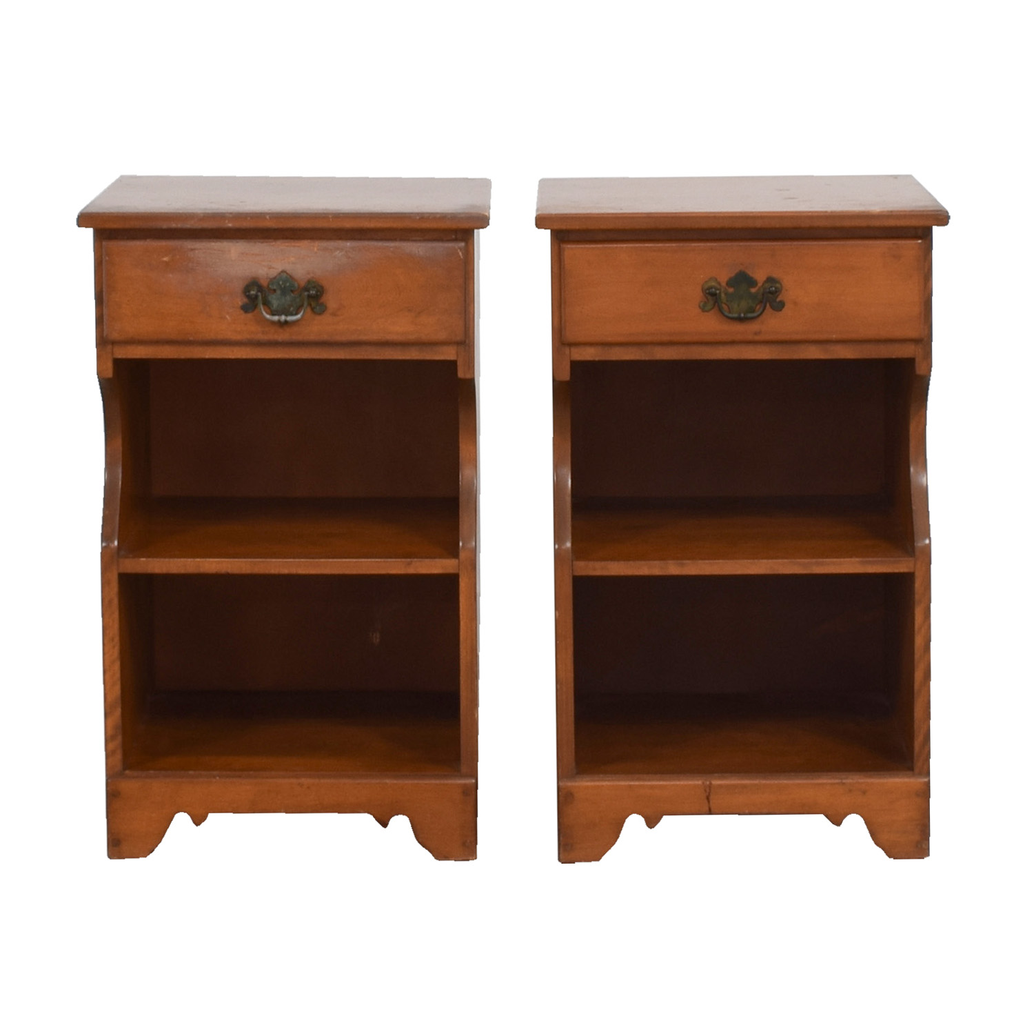 Ethan Allen Ethan Allen Baumritter Maple Side Cabinets End Tables