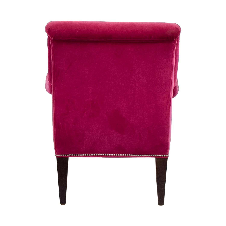 shop Crate & Barrel Pink Nailhead Velvet Chair Crate & Barrel