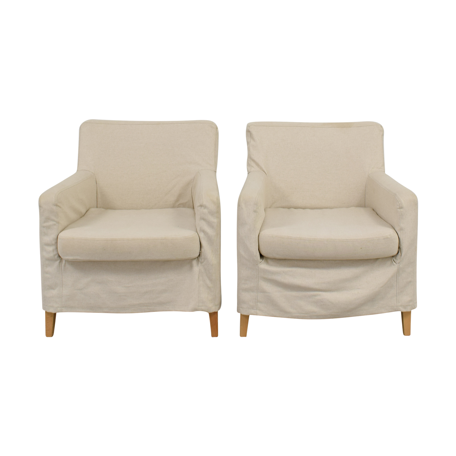 Beige Skirted Accent Armchairs discount