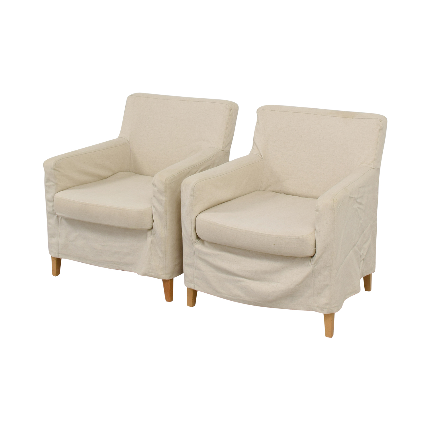 ... Shop Beige Skirted Accent Armchairs Chairs ...