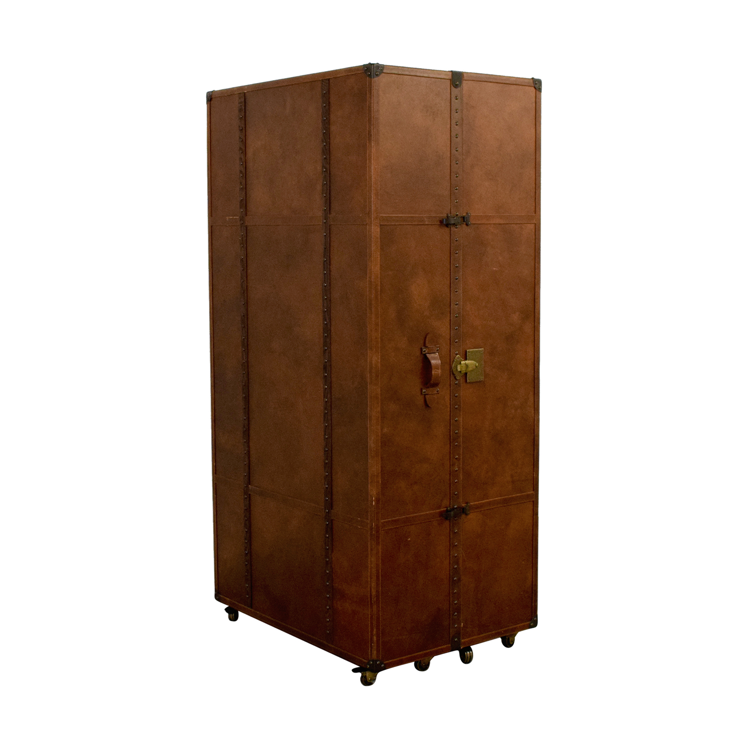 Restoration Hardware Timothy Oulton Handcrafted Travelling Steam Trunk / Wardrobes & Armoires