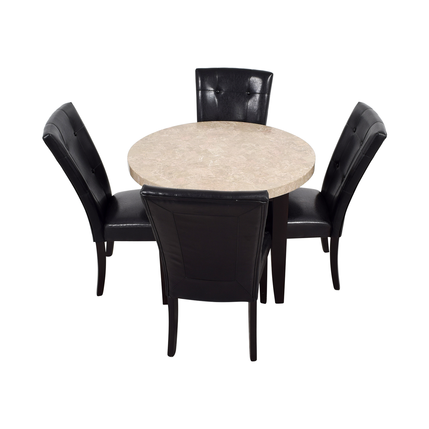 Bobs Furniture Bobs Furniture Black and Tan Marble Dining Set nj