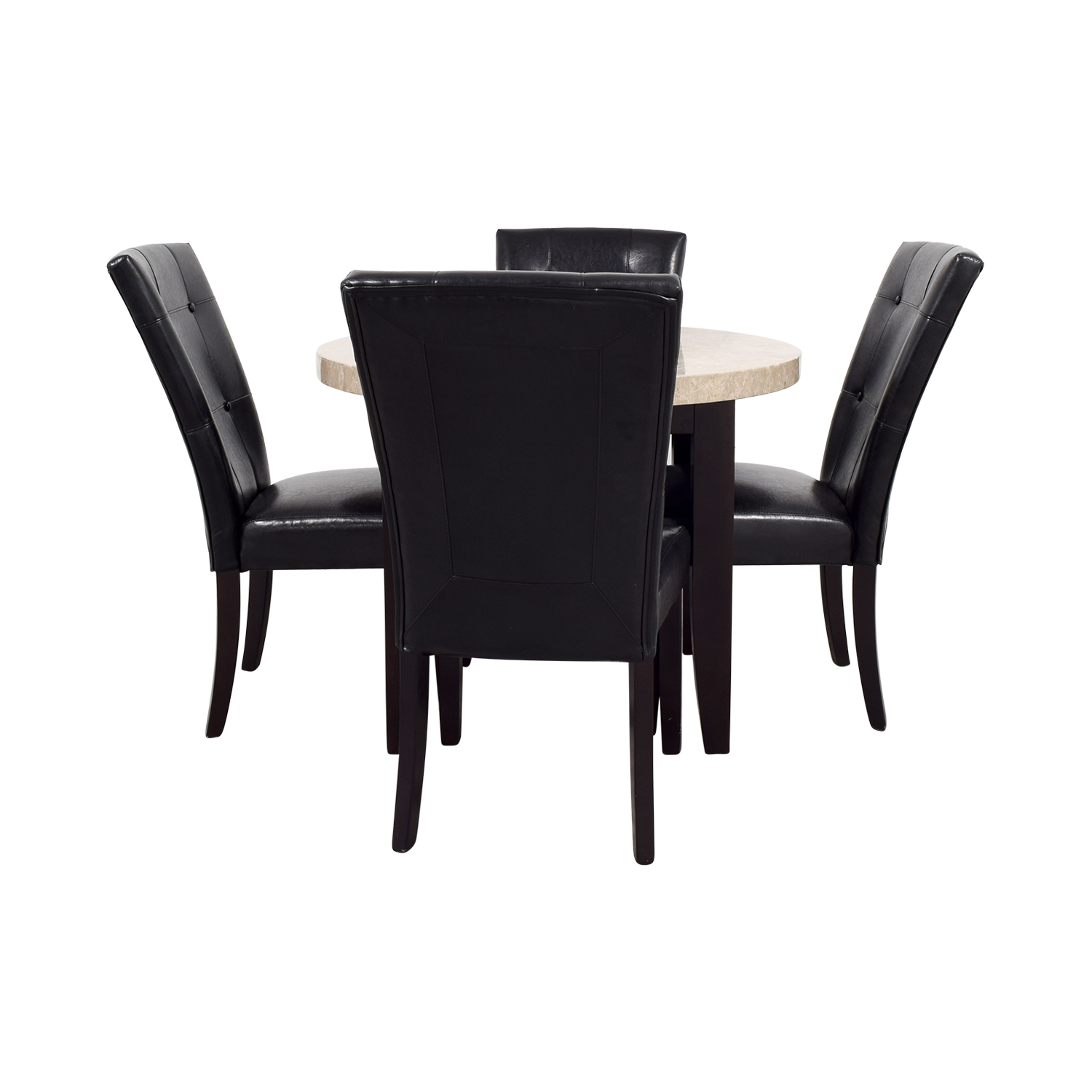 buy Bobs Furniture Bobs Furniture Black and Tan Marble Dining Set online