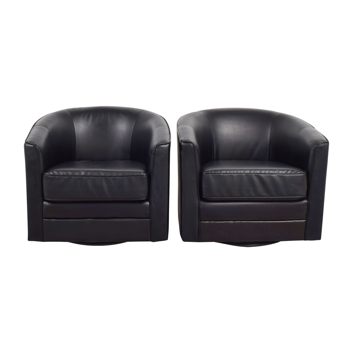 Bobs Furniture Bobs Furniture Black Leather Arm Accent Chairs coupon