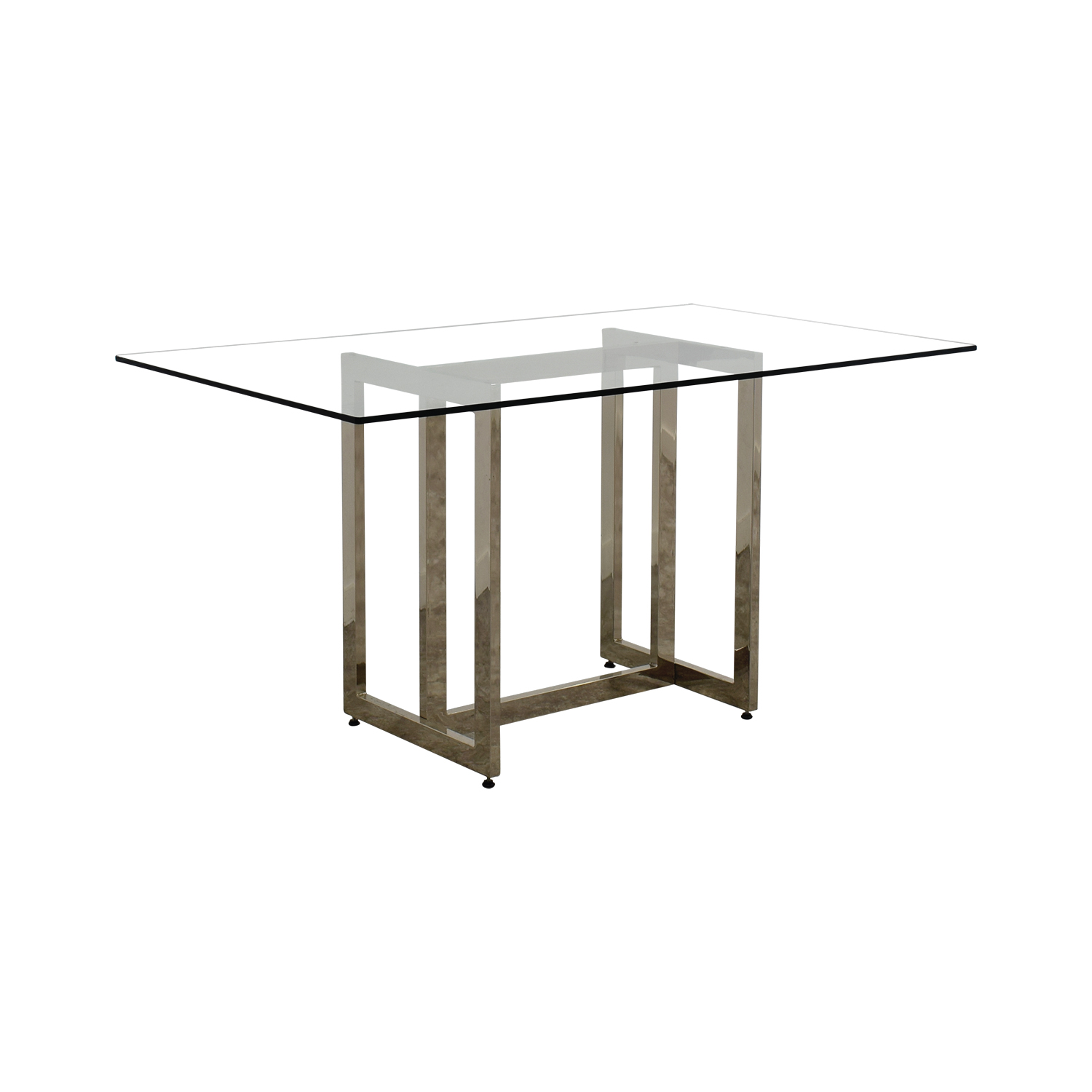 ... Shop West Elm Rectangular Glass And Chrome Dining Table West Elm ...