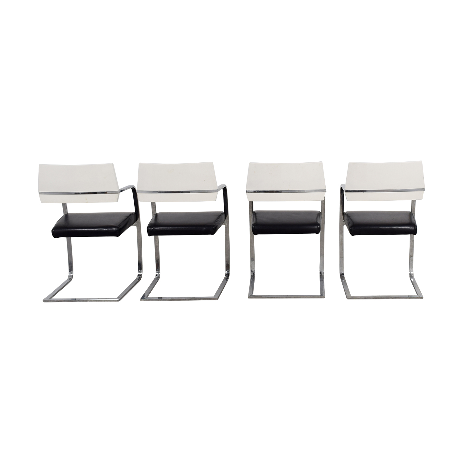 shop Italian Leather Black and White Chairs online