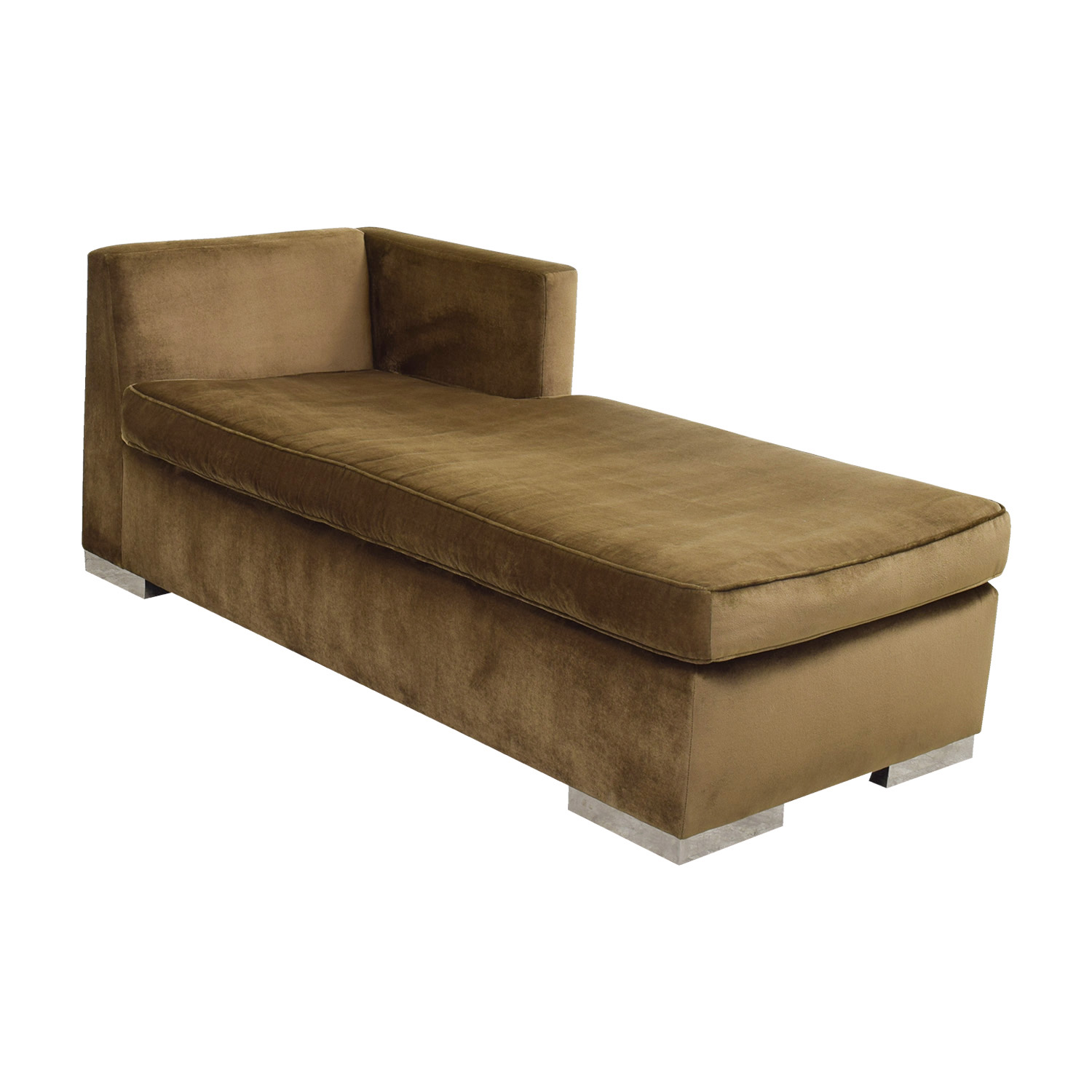 90 off leija designs leija designs brown mohair chaise lounger sofas. Black Bedroom Furniture Sets. Home Design Ideas