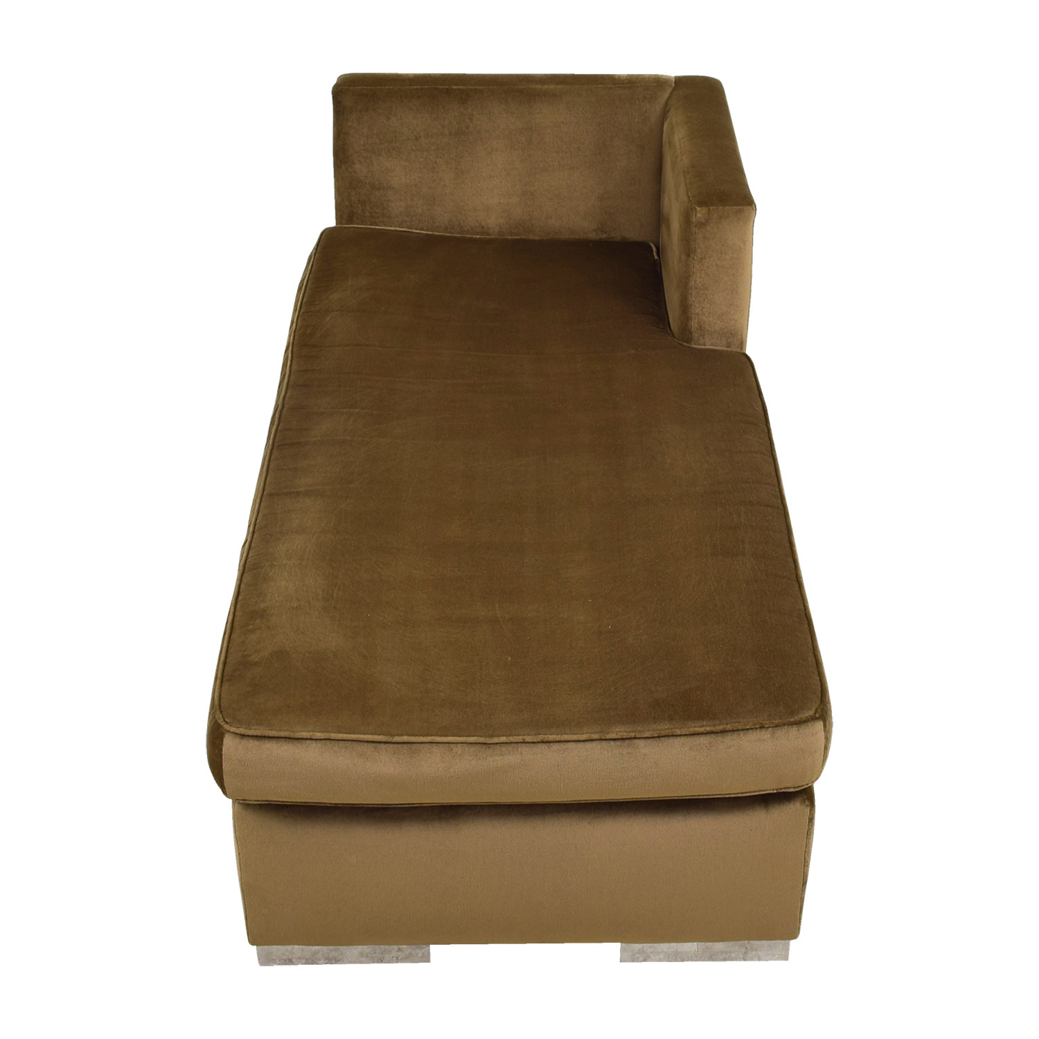 Leija Designs Leija Designs Brown Mohair Chaise Lounger for sale
