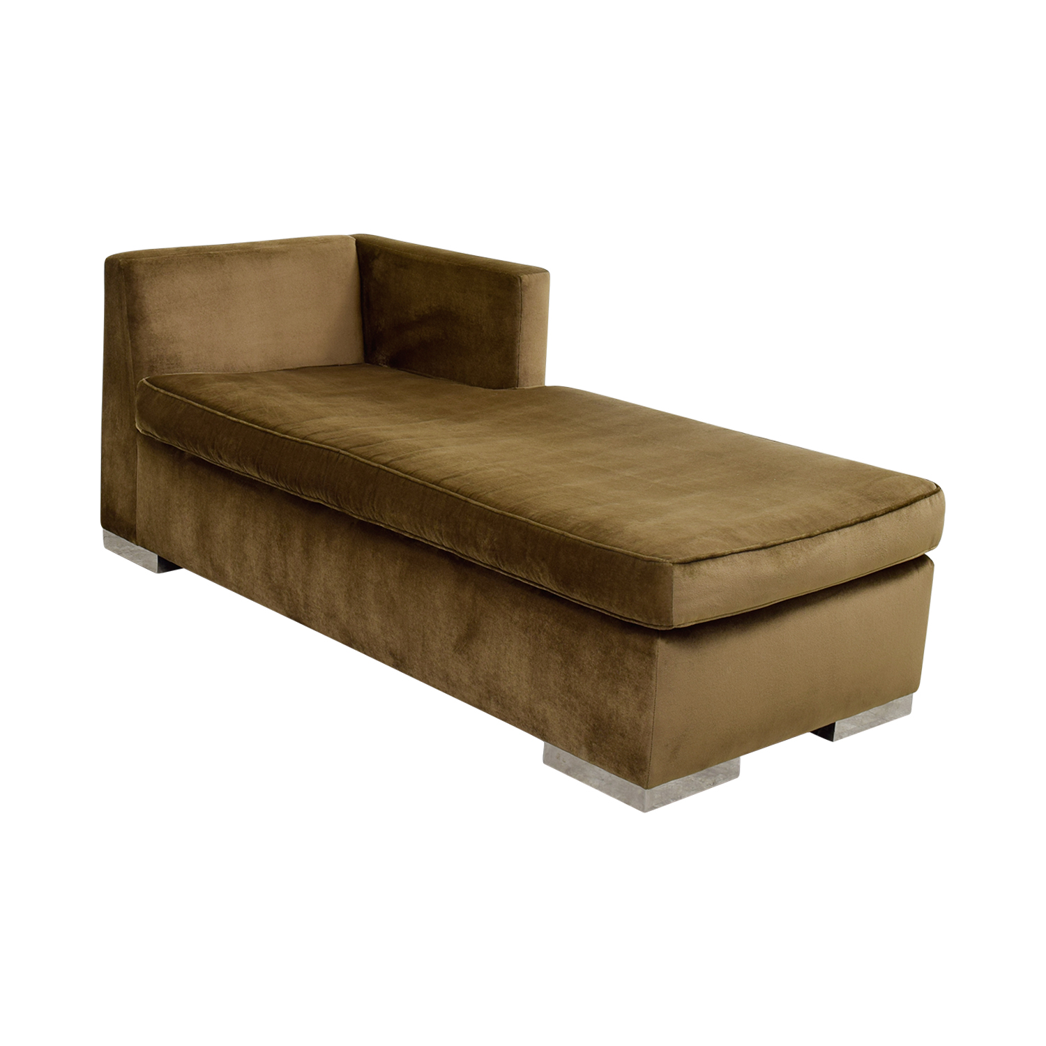 Leija Designs Leija Designs Brown Mohair Chaise Lounger dimensions