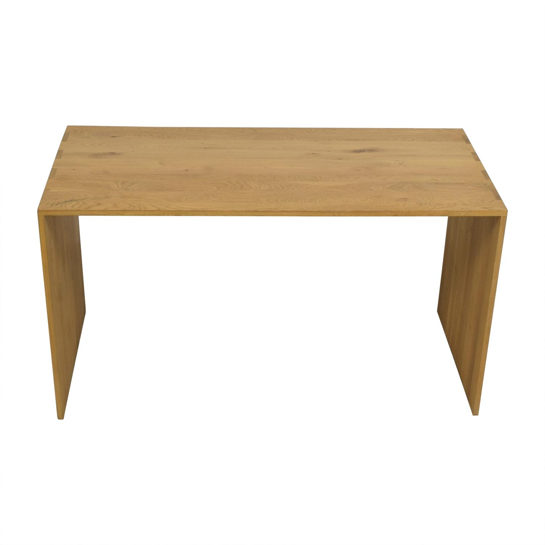 Crate & Barrel Raw Oak Wood Desk with Autograph sale