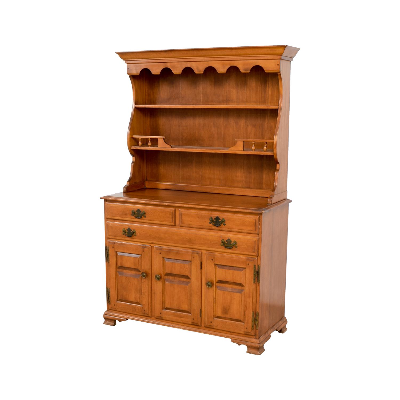 90 Off Temple Stuart Temple Stuart Vintage American Provincial Maple Hutch Tables
