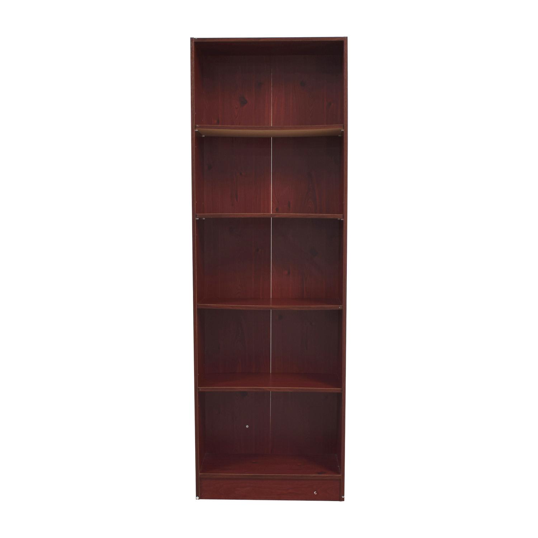 buy Tall Wood Five-Shelf Bookcase online