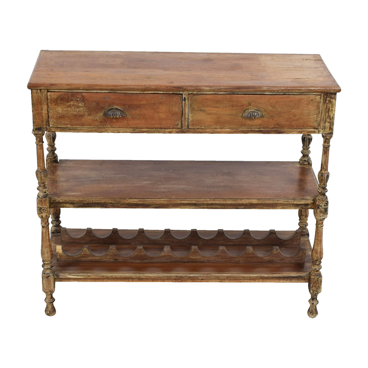 shop Antique Rustic Wood Wine Hutch Cabinets & Sideboards