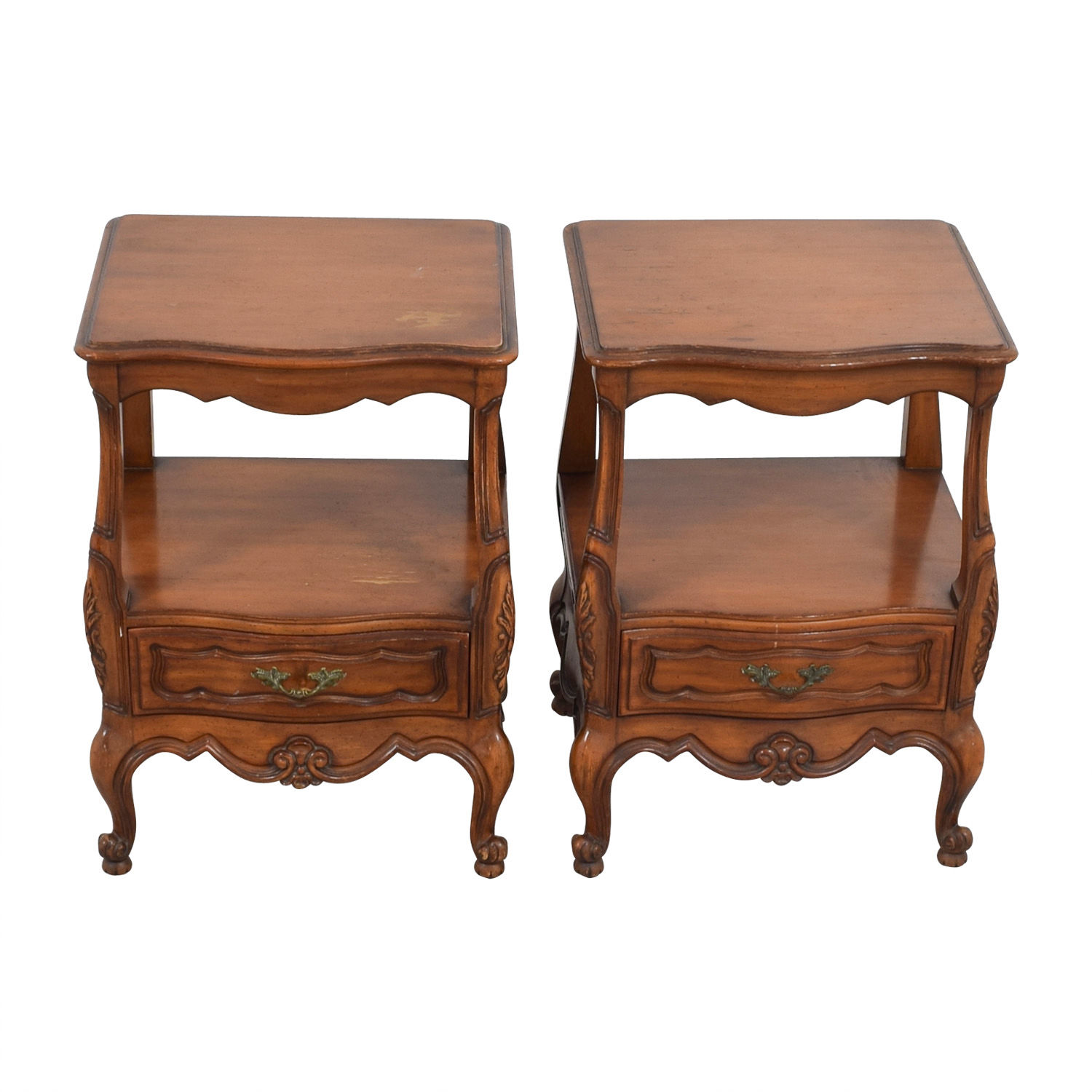 Wood Carved Night Stands second hand